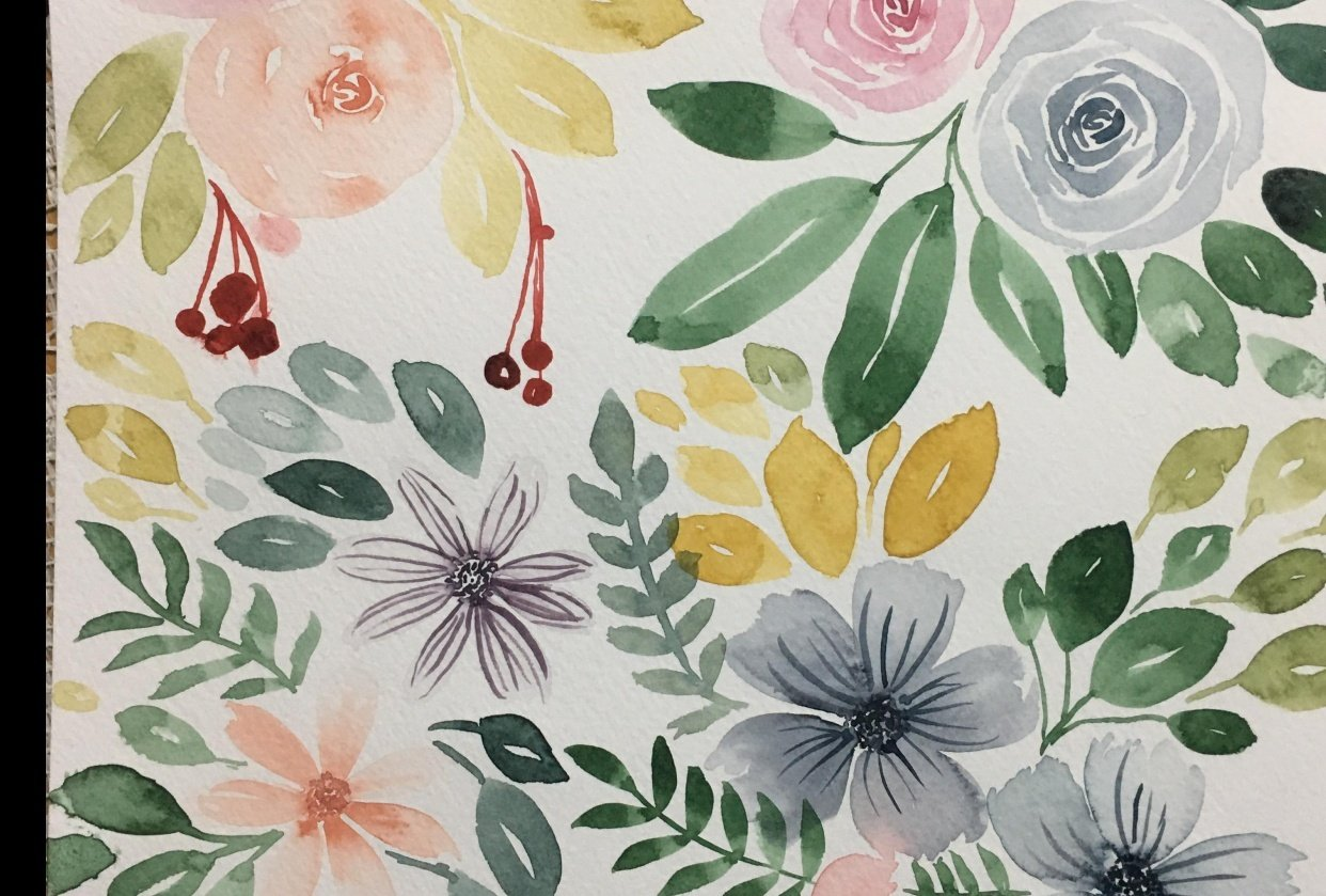 Loose Watercolor Florals: Create Beautiful DIY Name Cards - student project