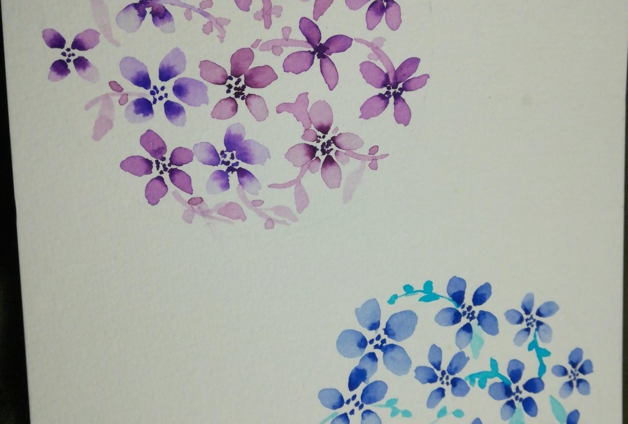 Two flower balls - student project