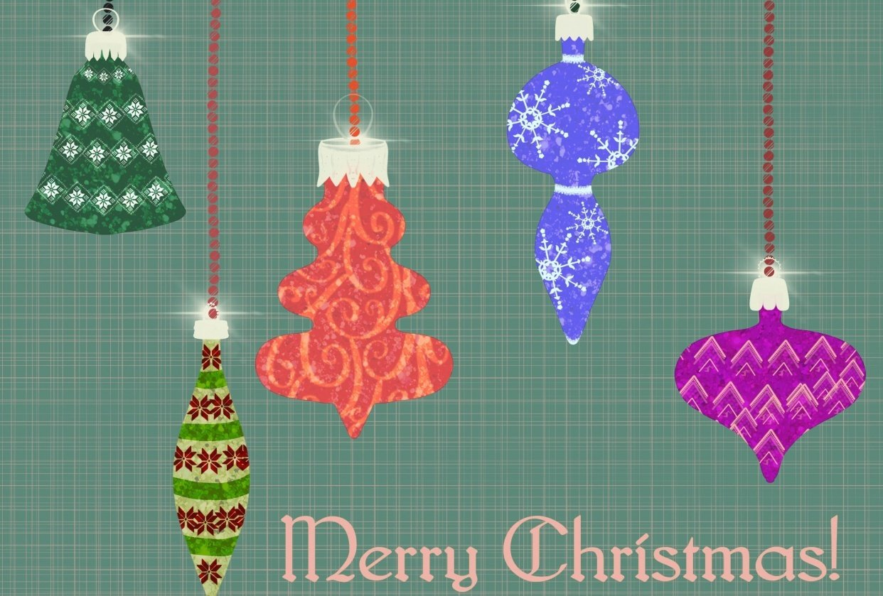 Vintage Christmas Ornaments With Sparkle - student project