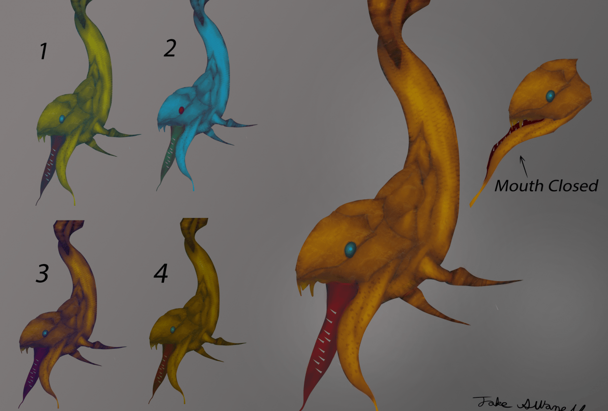 Aquatic Creature concept art - student project