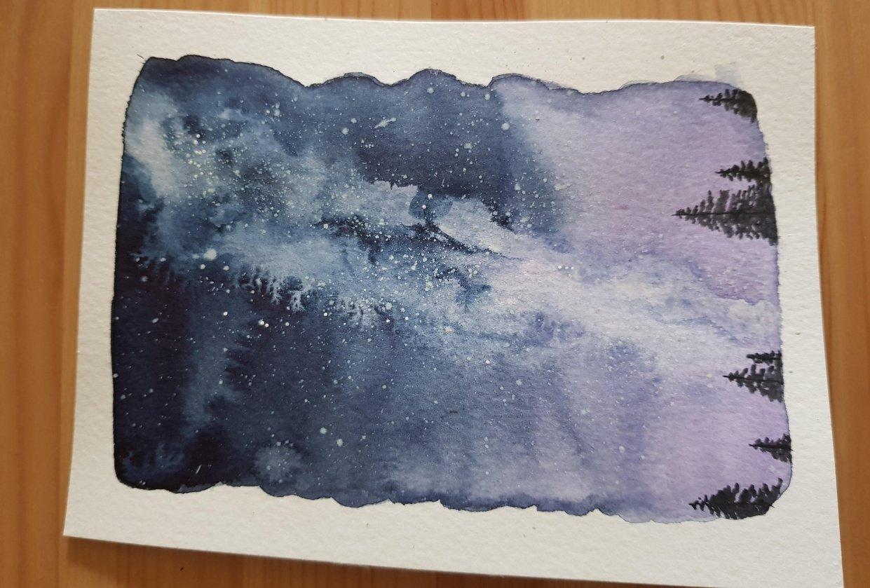 Milky way night sky - student project