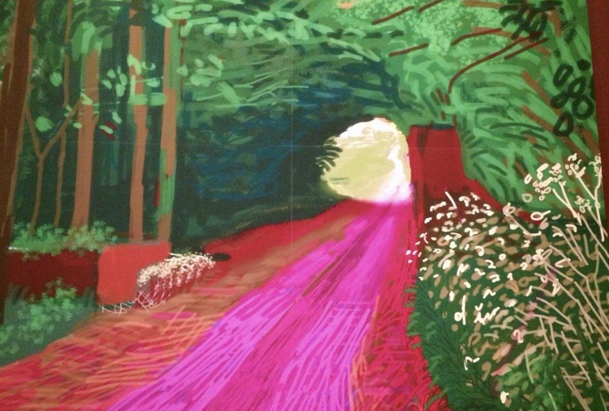 David Hockney iPad art inspiration - student project
