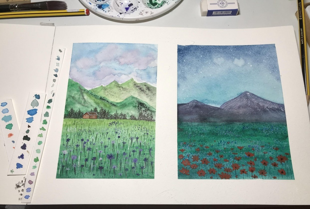 Floral meadow - student project