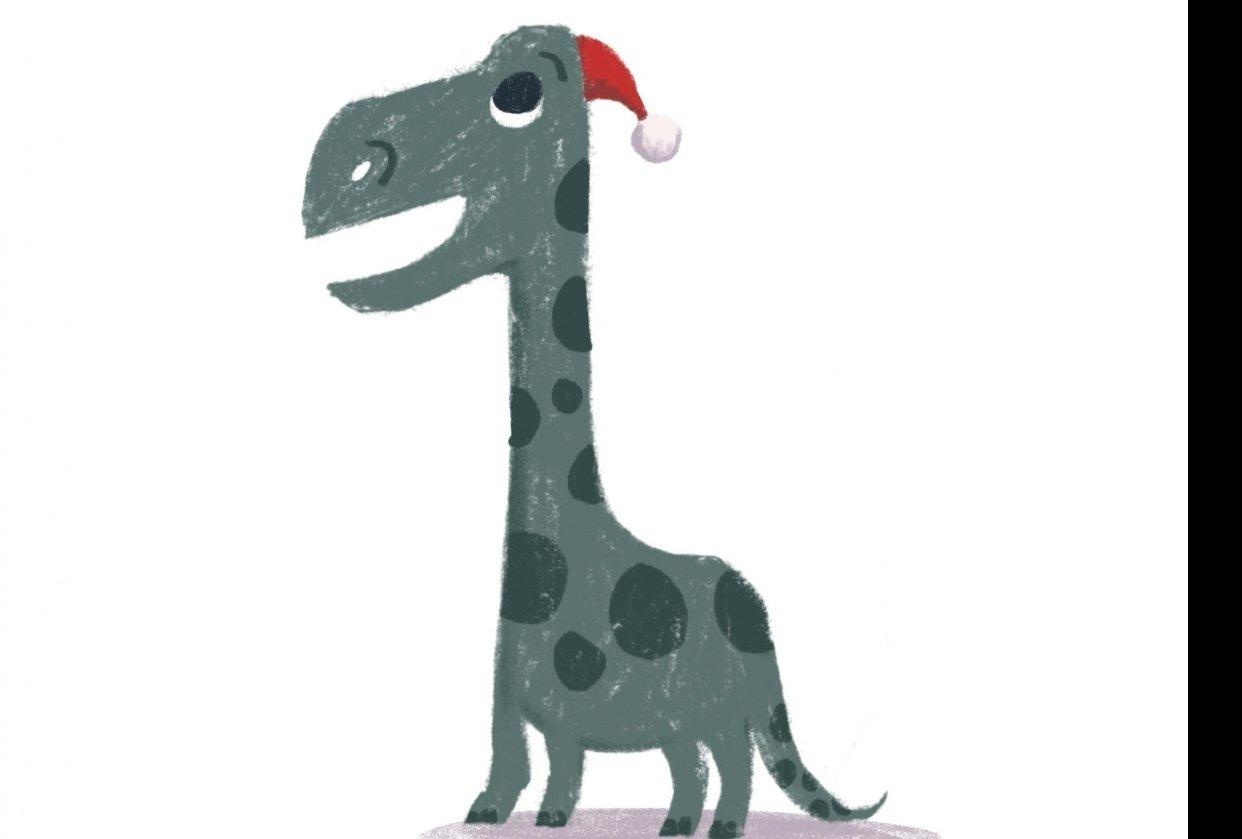 Christmas Dinosaur - student project