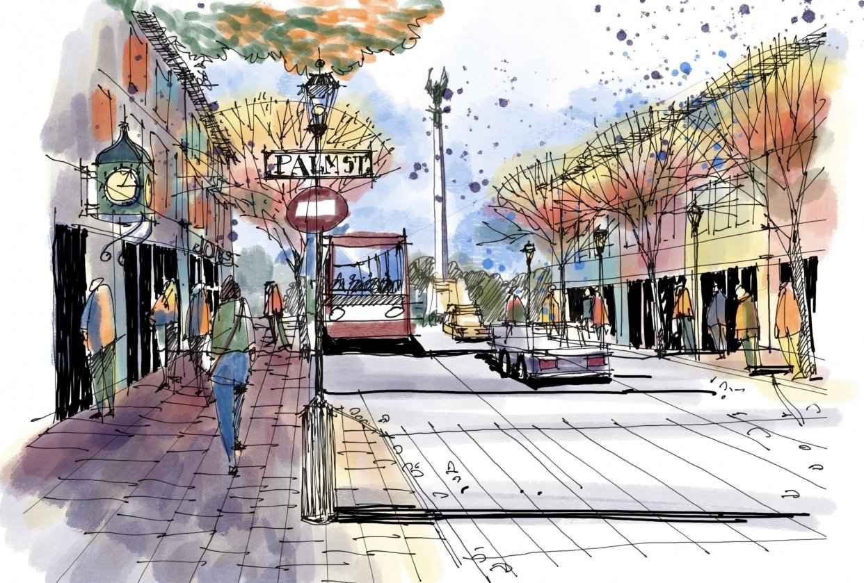 Street scene - student project