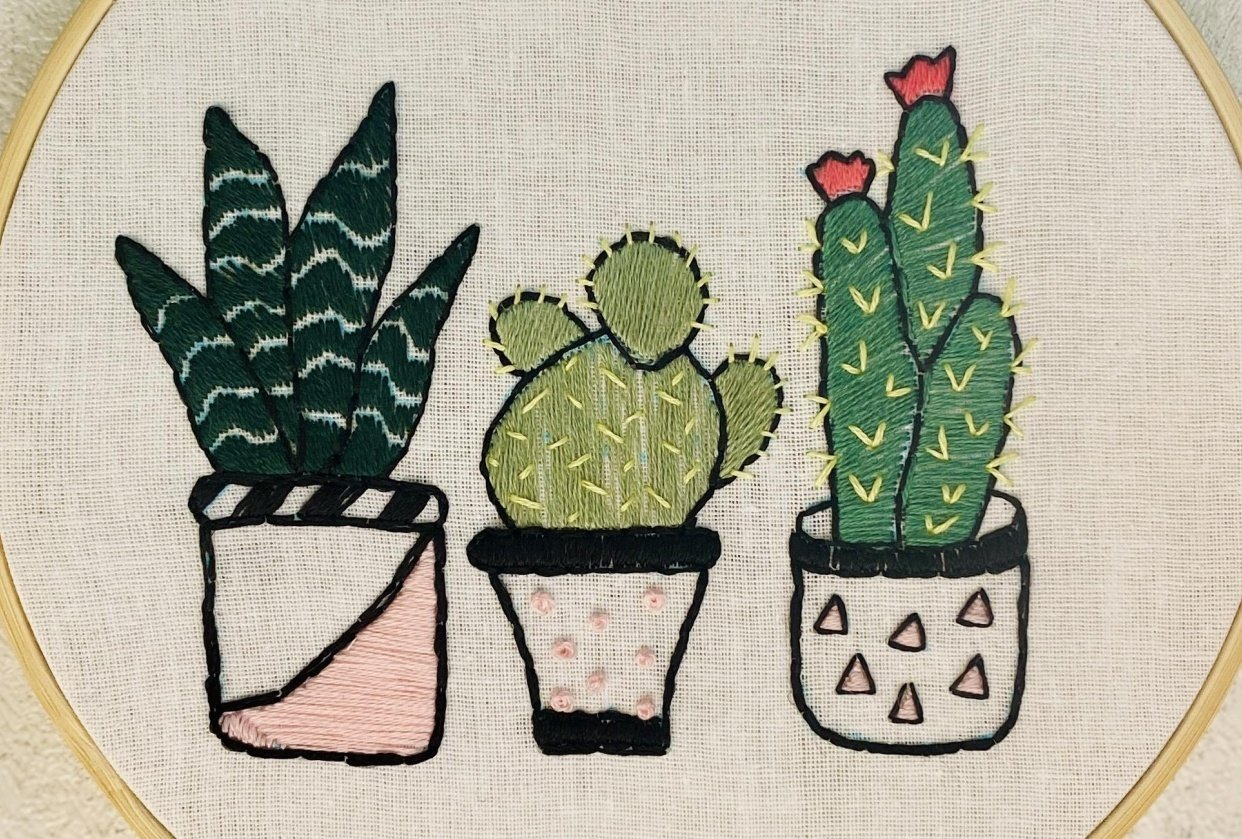 My first embroidery project - student project