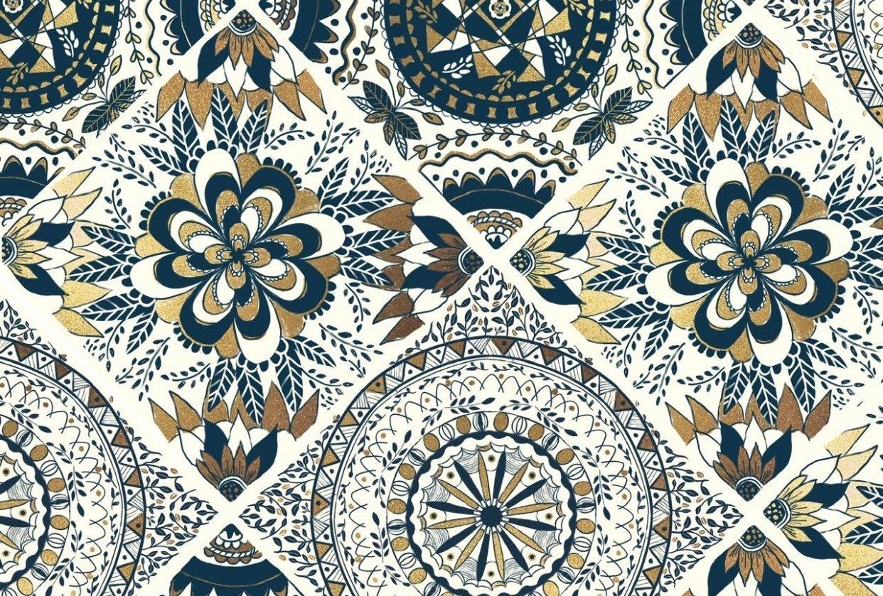 Mandala tiles - student project