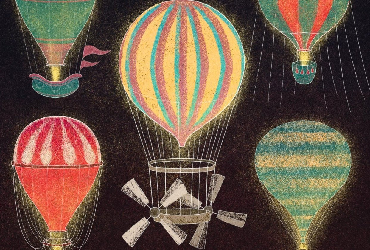 Vintage Hot Air Balloon series - student project