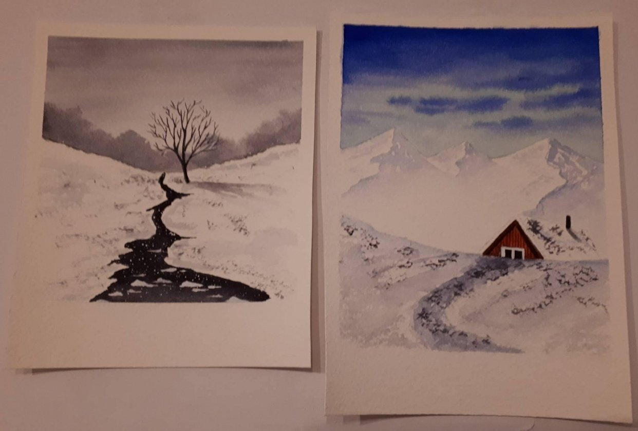 winter polaroids - student project