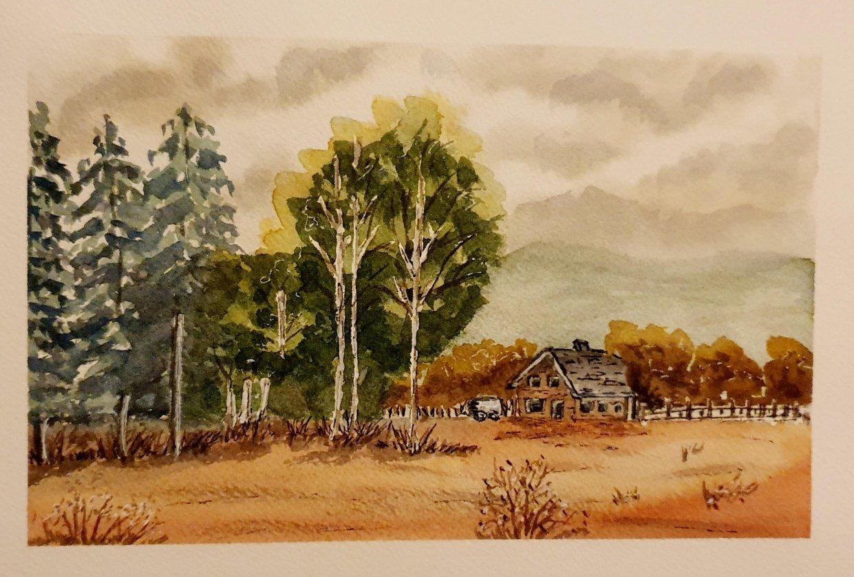 Painting a landscape - student project