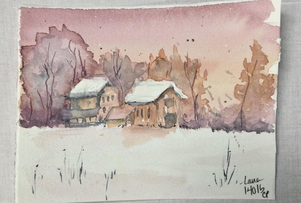 Moody winter scenes - student project