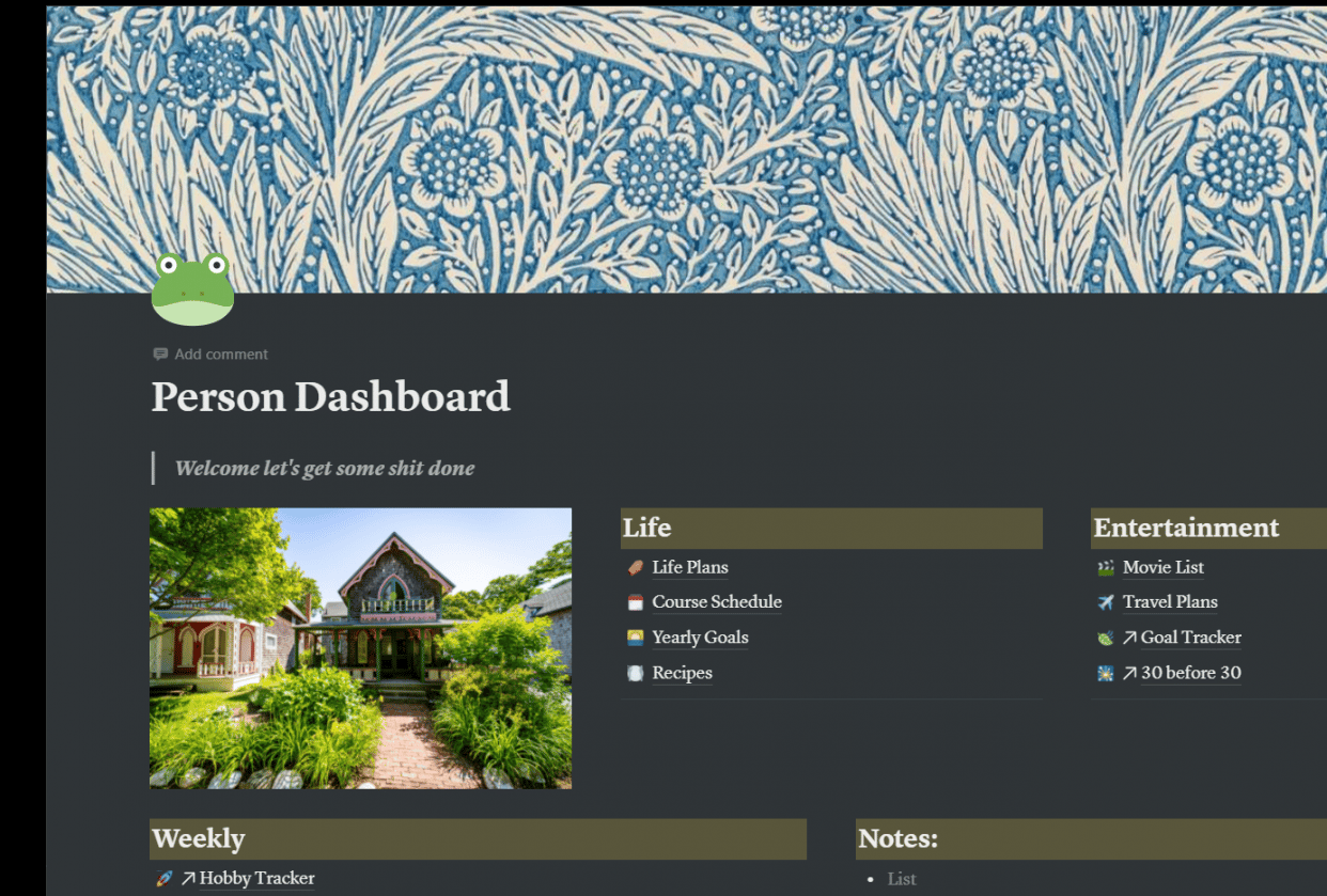 My Personal Dashboard - student project