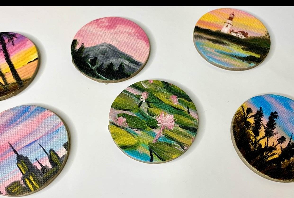 Miniature Oil Paintings - student project