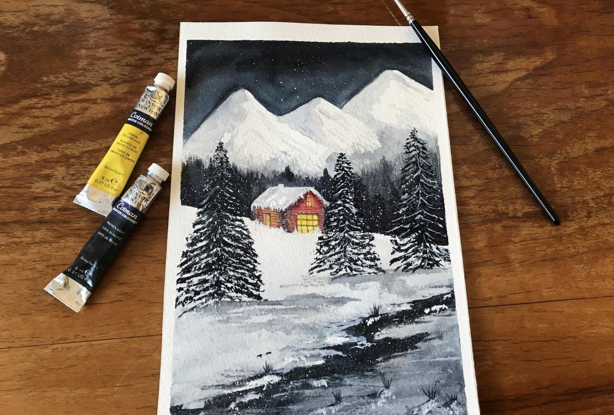 Snowy winter wonderland - student project