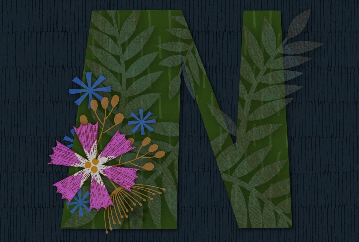 Floral layering with Affinity Designer - student project
