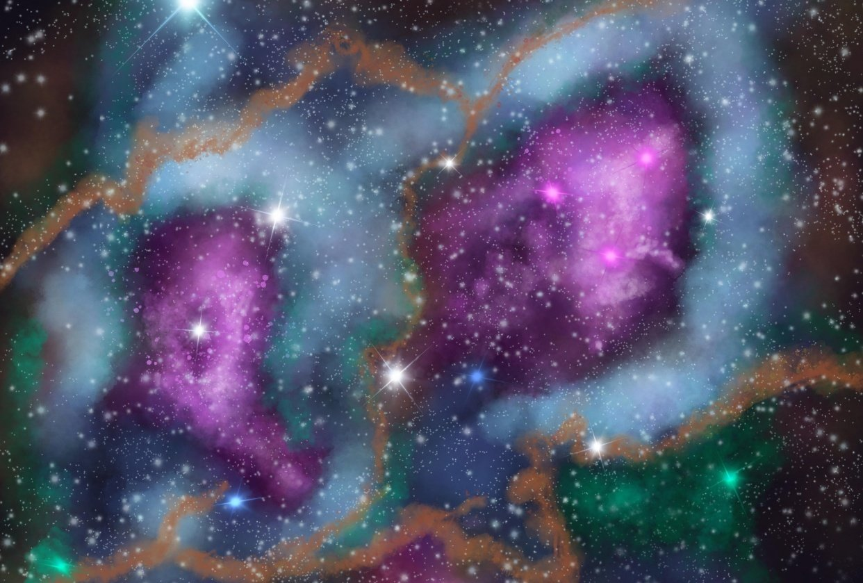 Nebula clouds - student project