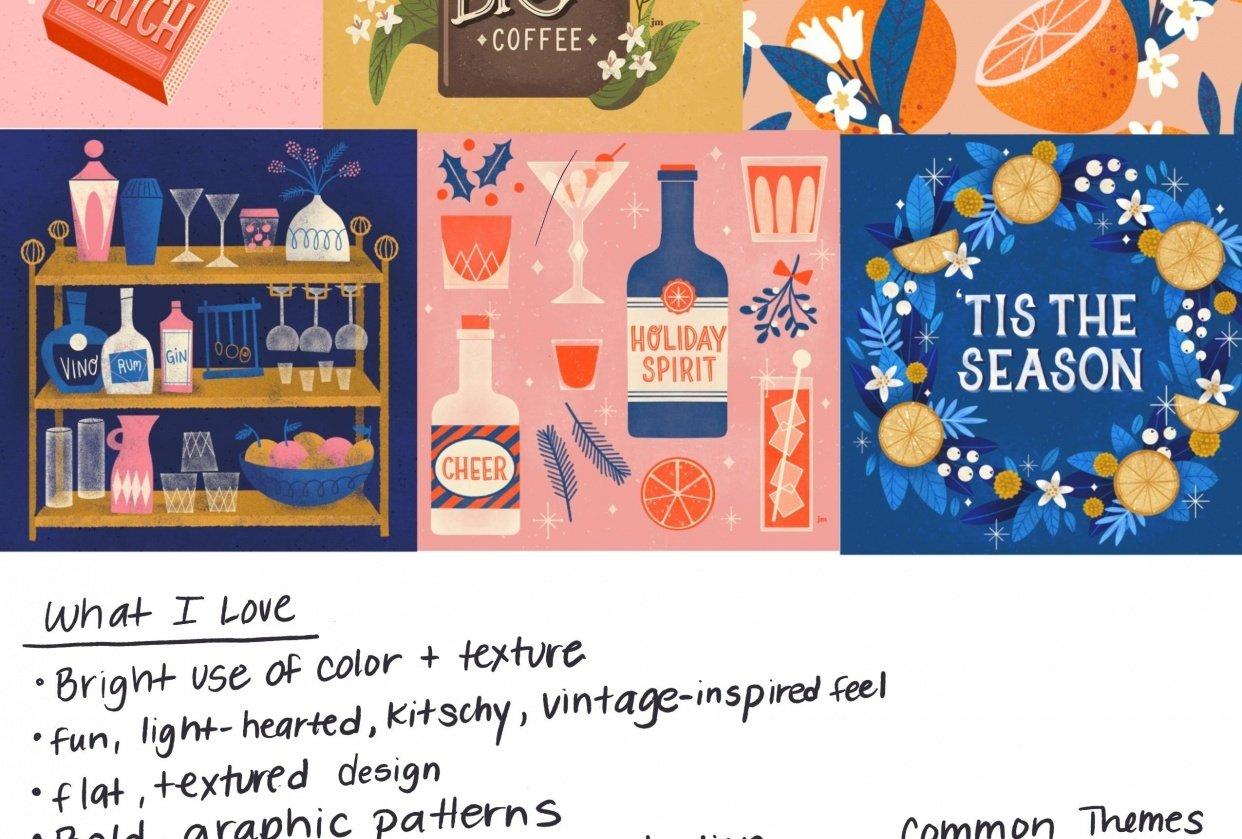 Illustration Style Exploration - student project
