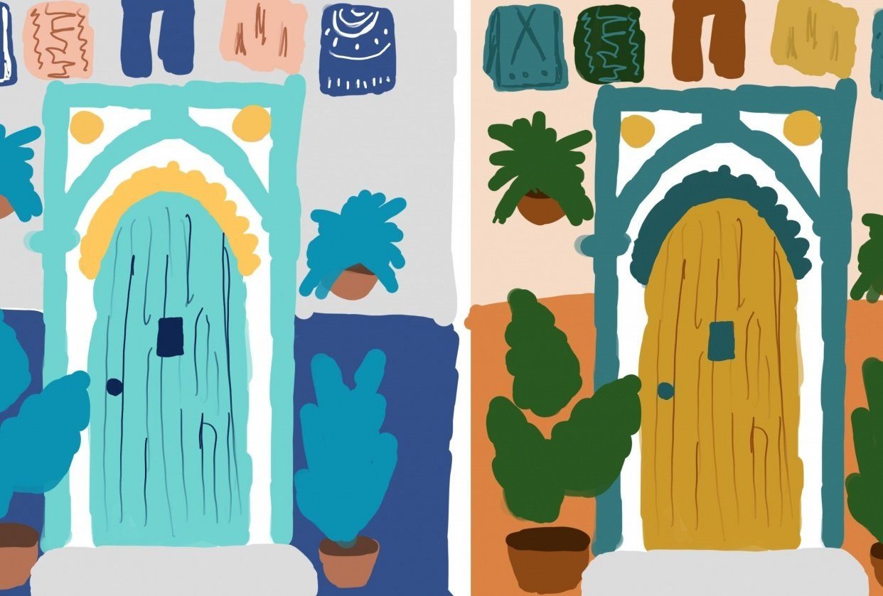 color sketches - student project