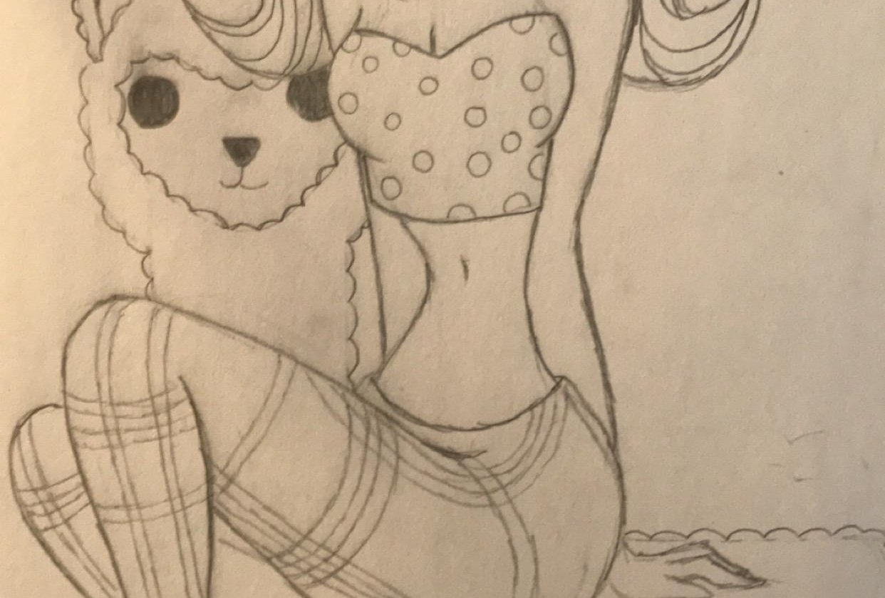 Girl Riding an Alpaca - student project