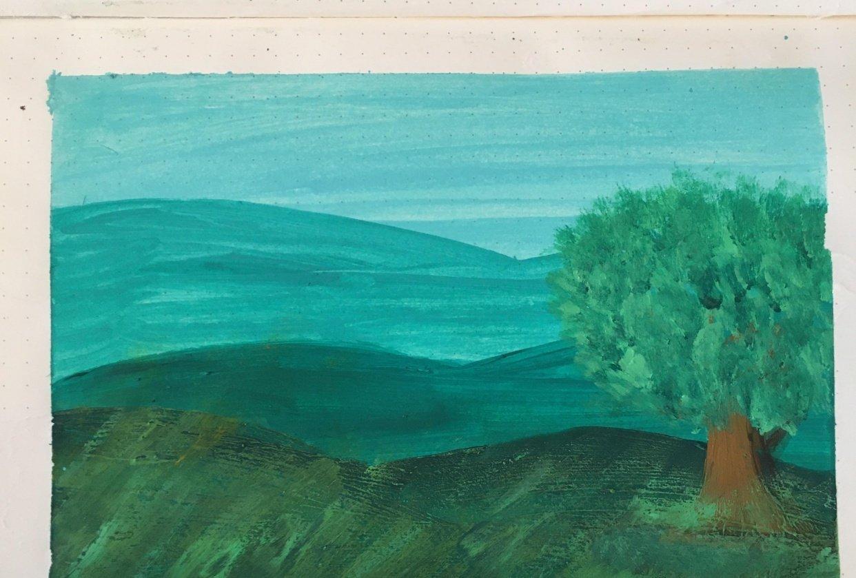 Landscape. - student project