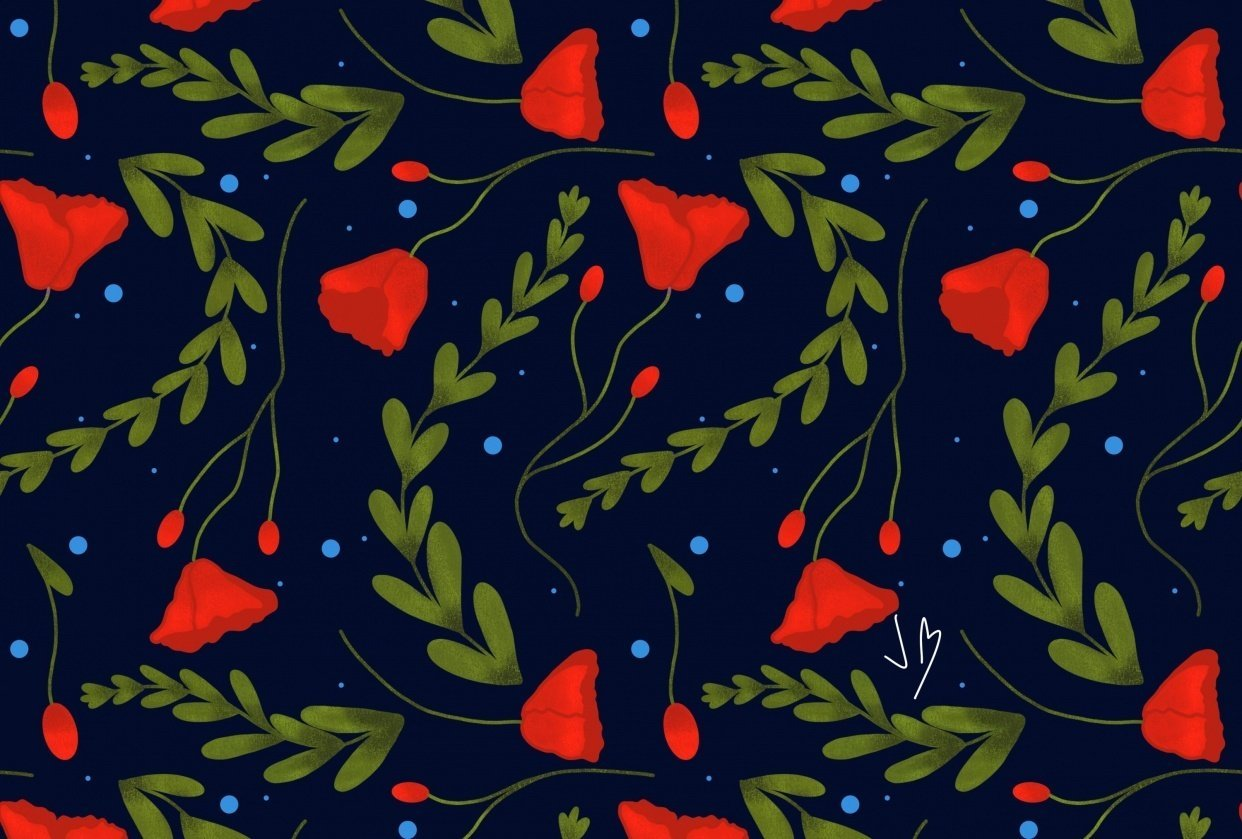 Floral pattern :) - student project