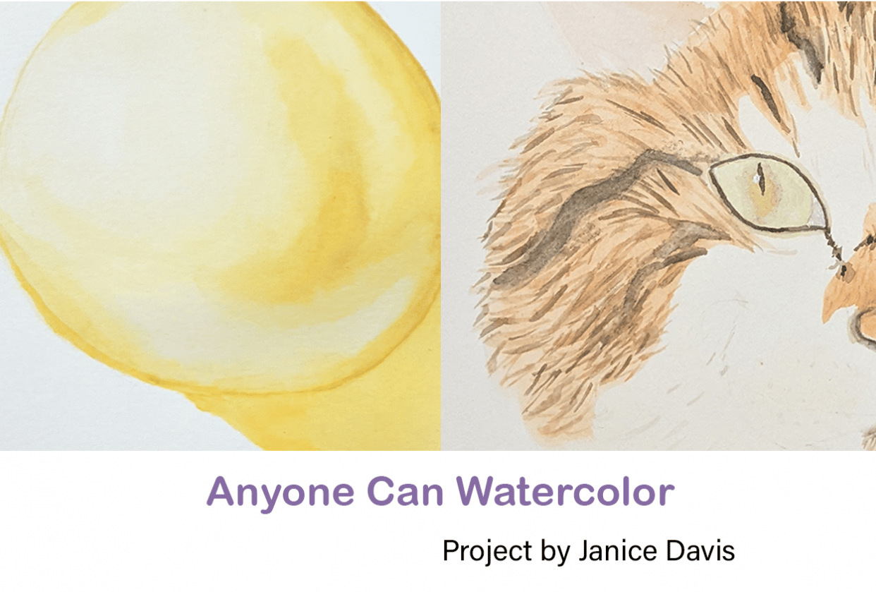 Anyone Can Watercolor - student project