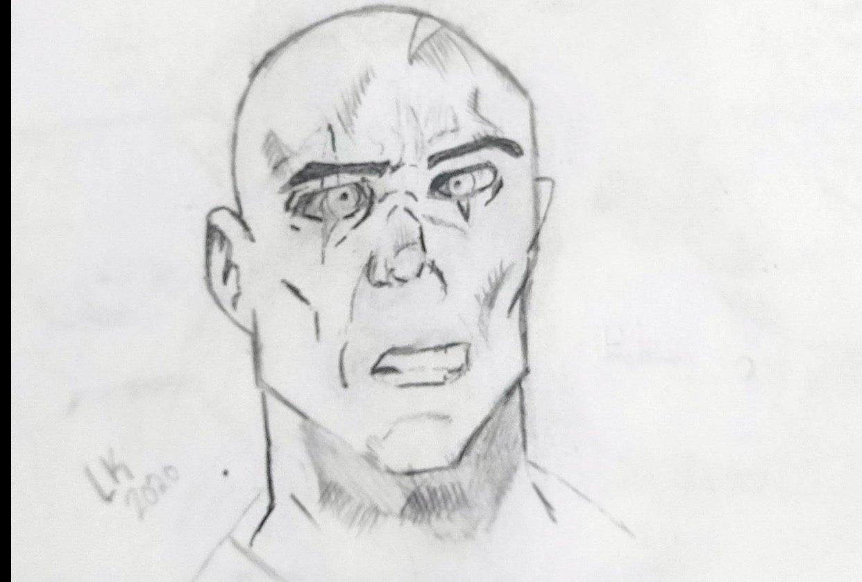 comic Art face - student project