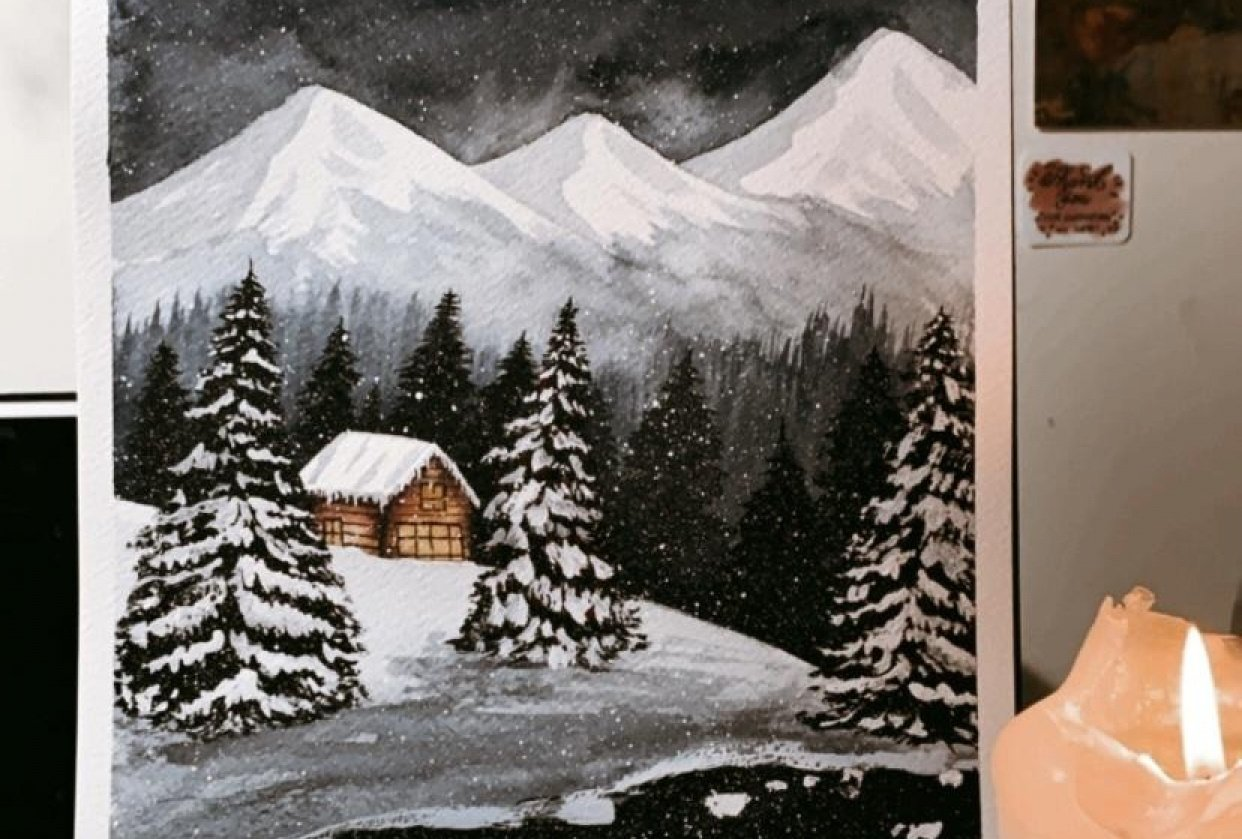 Christmas painting - student project