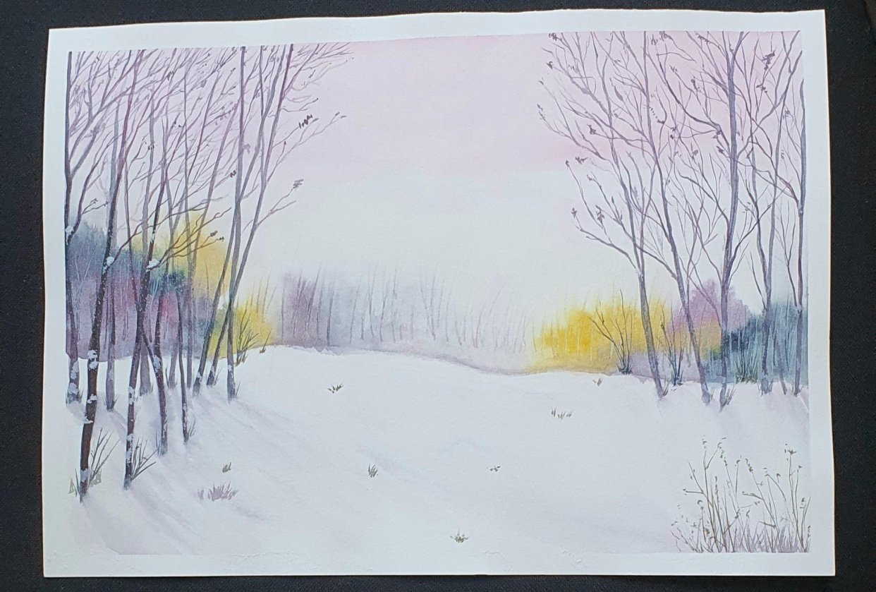 Snowy Winter Landscape - student project