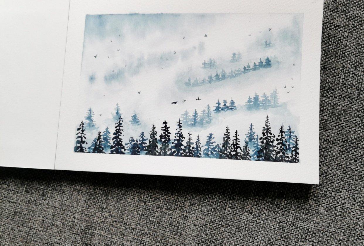 Pine-trees landscape - student project