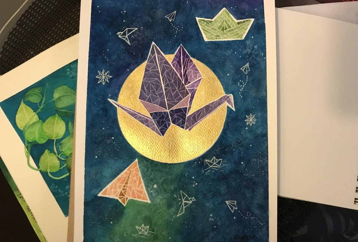 Origami turned into a mosaic! - student project