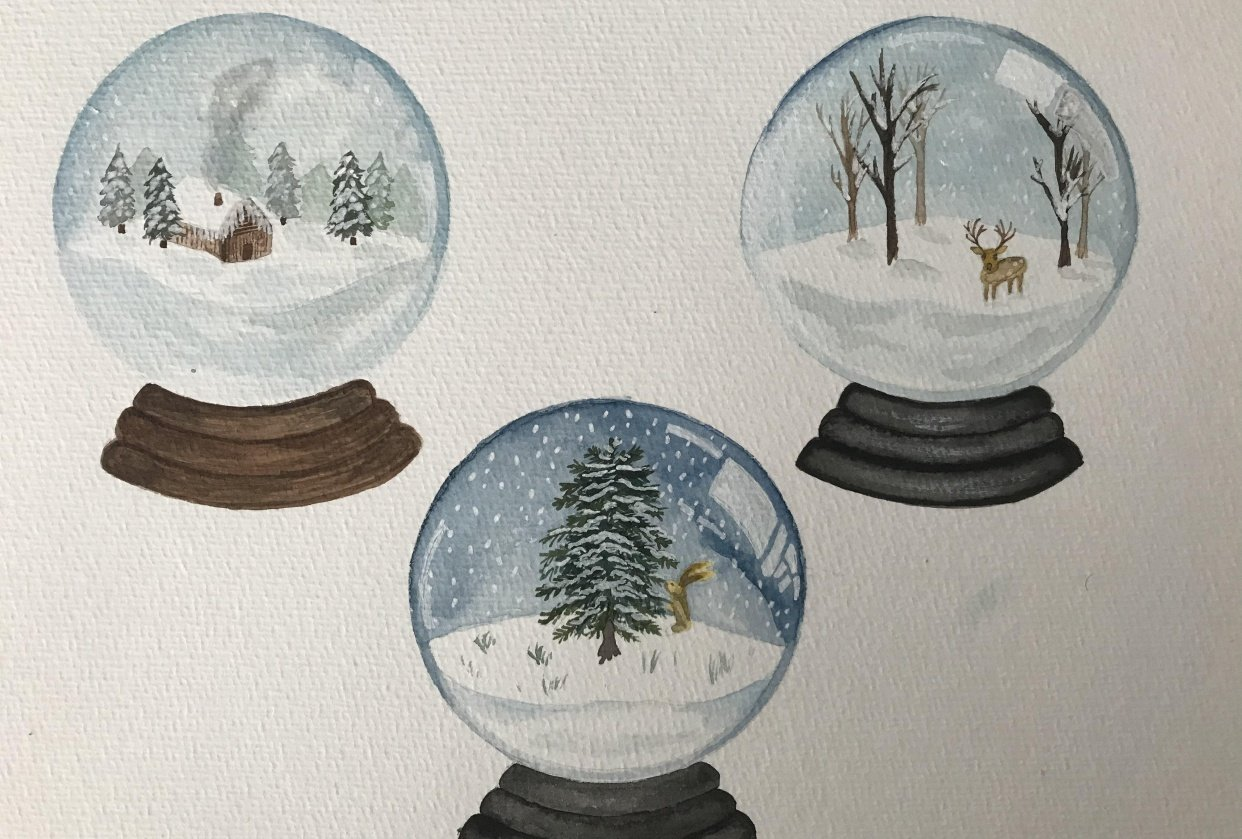 Snow globes - student project