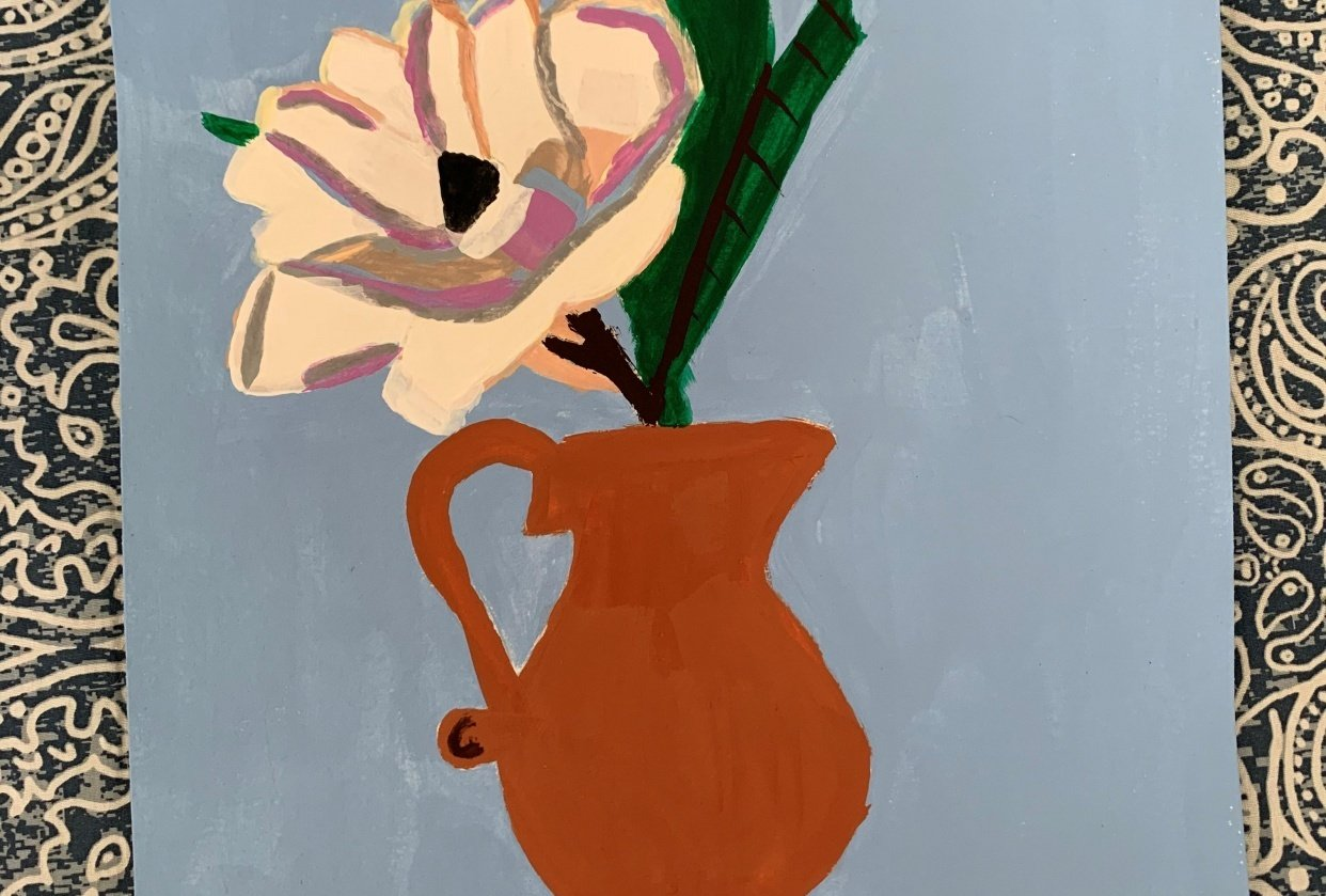 Acrylic Painting: Learn to Paint a Magnolia - student project