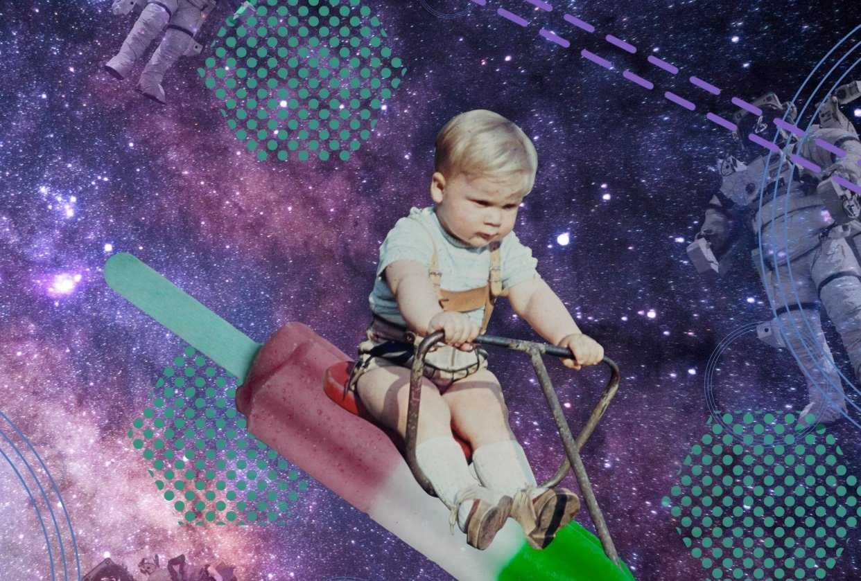 Toddler in space - student project