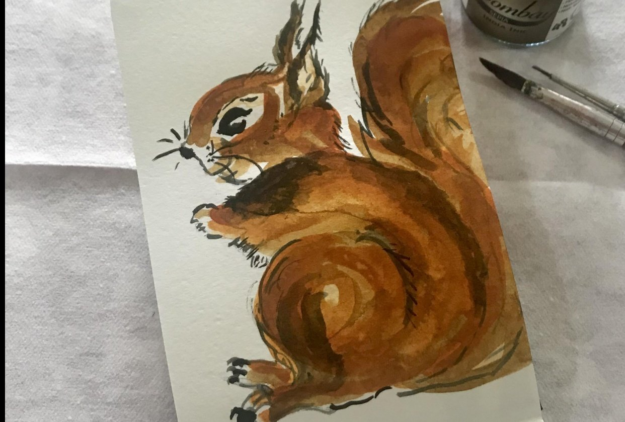 My squirrel - student project