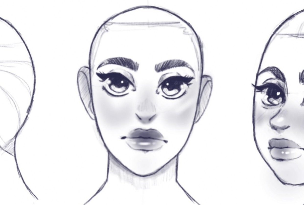 Cute faces - student project