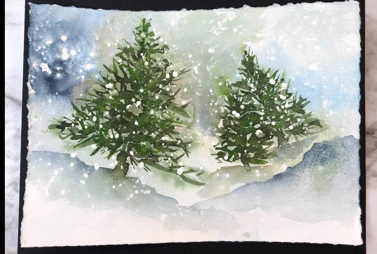 Snowy Pines - student project