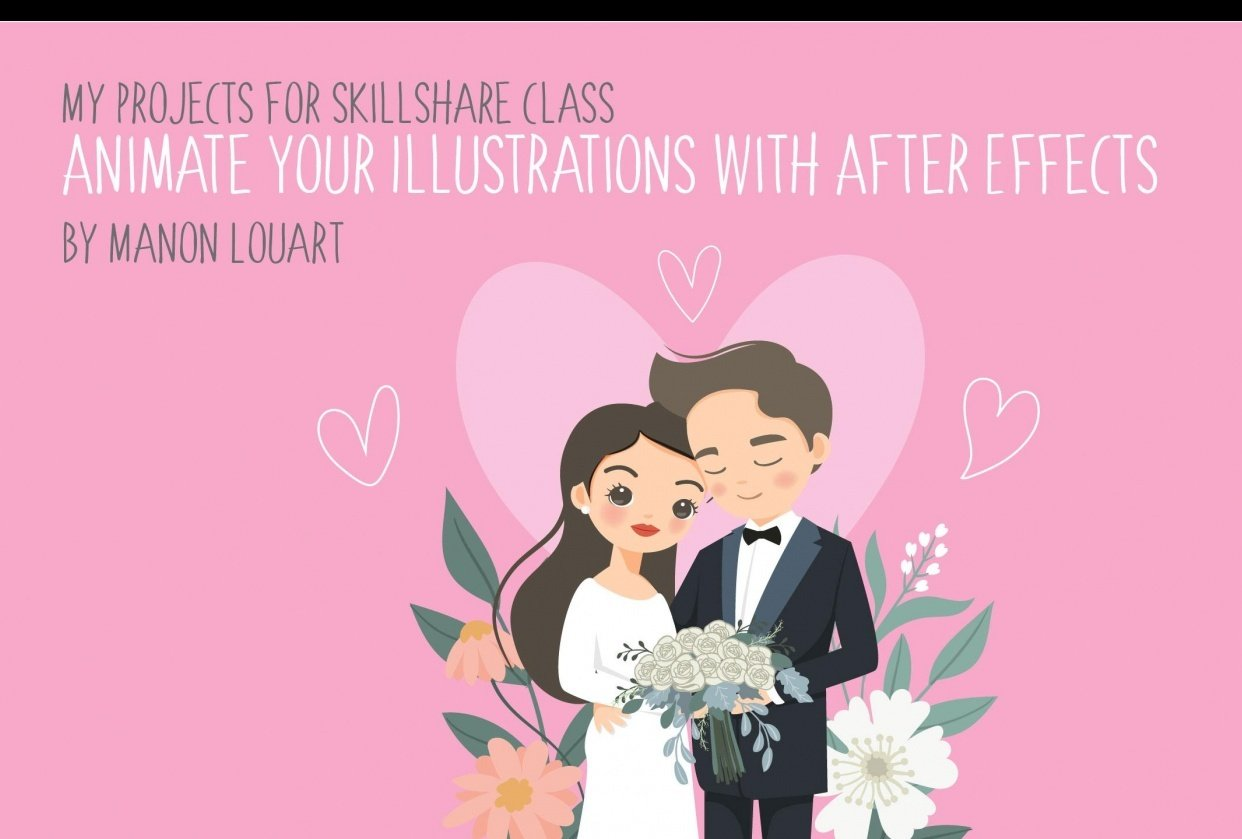 Cute Wedding Couple - student project