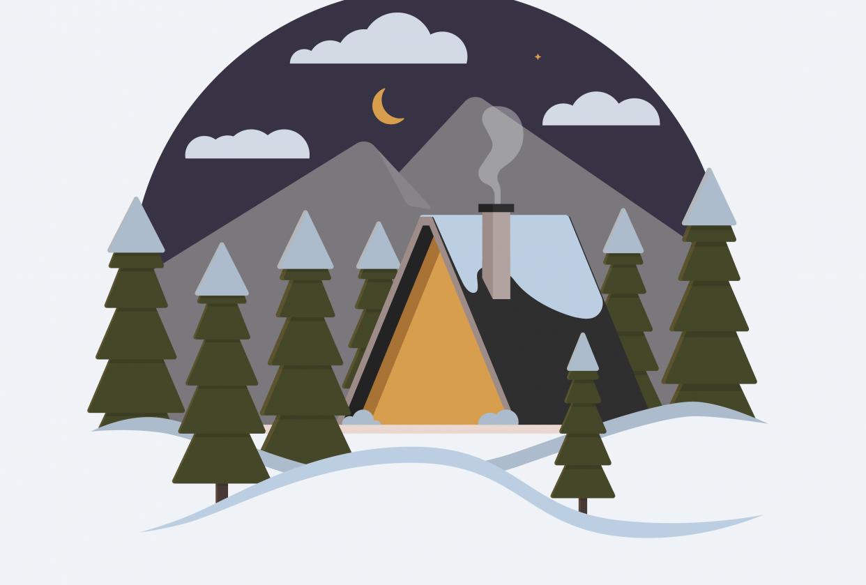 Winter Cabin - student project