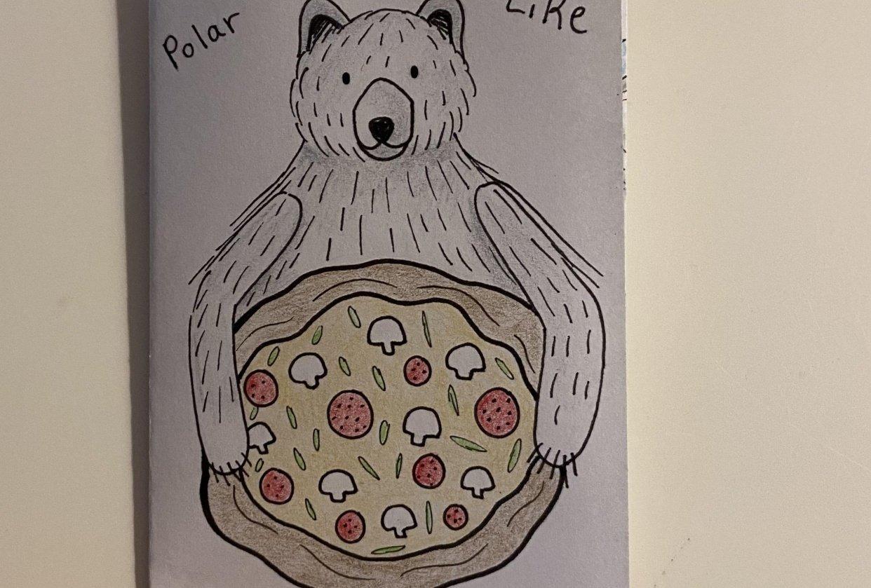 My First Zine: Polar Bears Like Pizza - student project