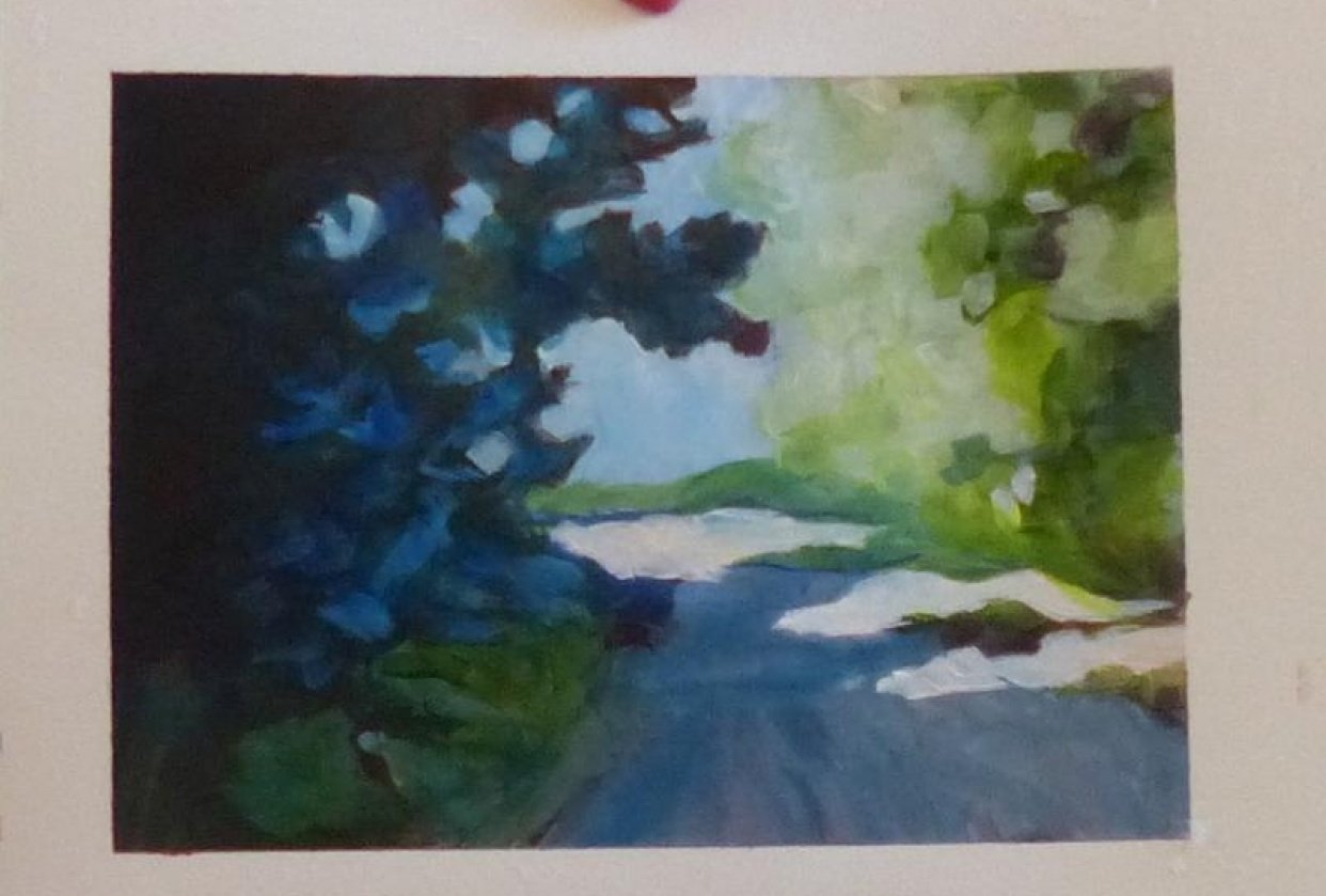 lane painting acrylic for beginners - student project