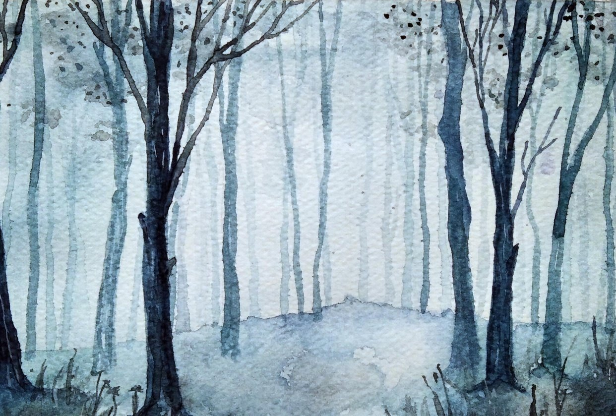 Creating depth in watercolor: woodland - student project