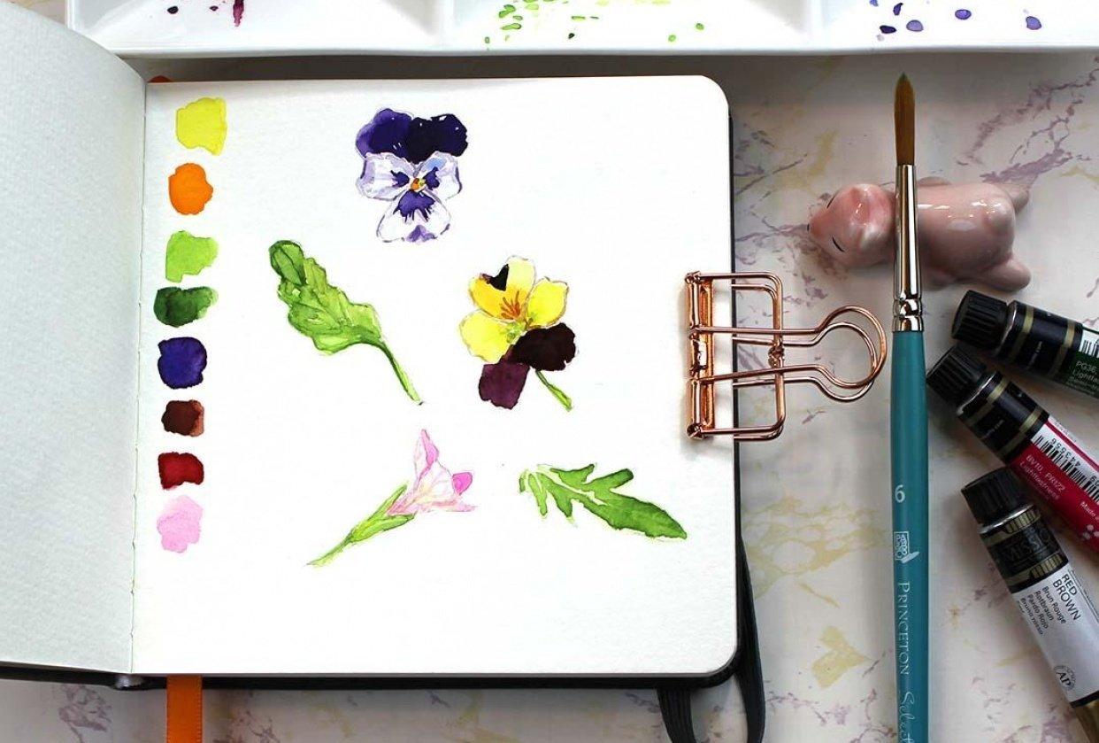 Botanical Sketchbook Project - student project