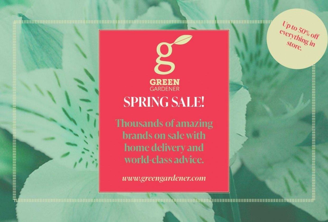 Green Gardener Flyer: Class Project 1 - student project