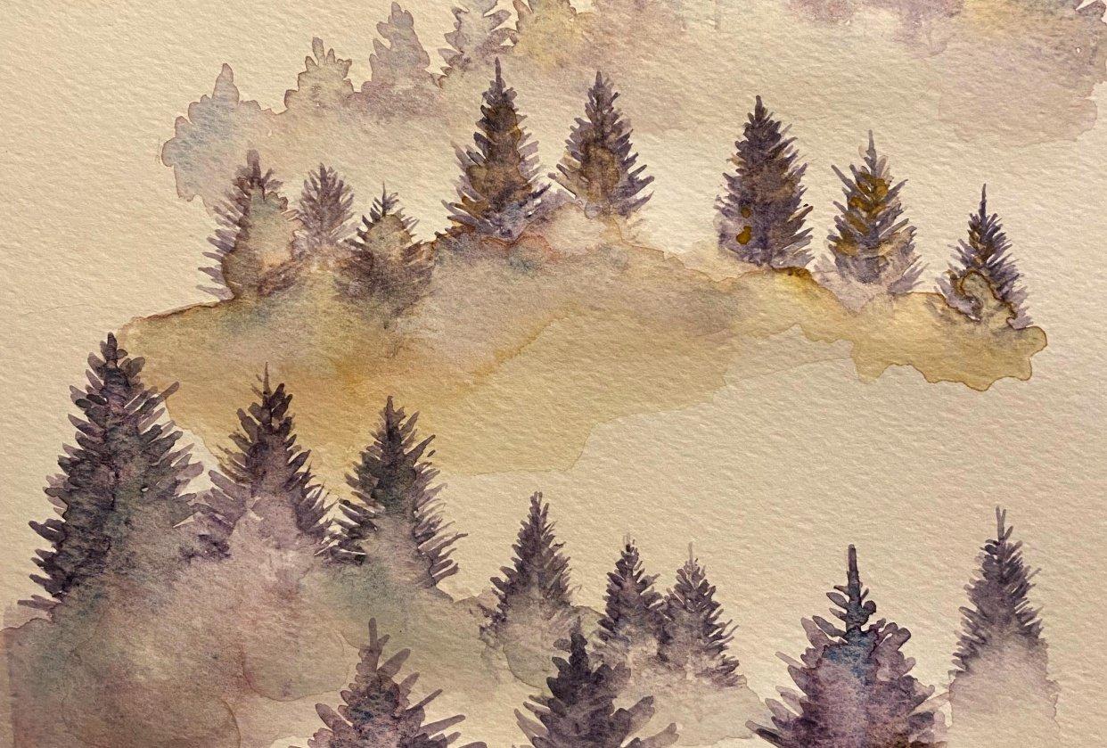 Misty Tree Landscape - student project