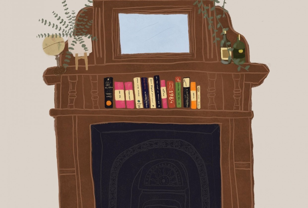 By the Fireplace - student project