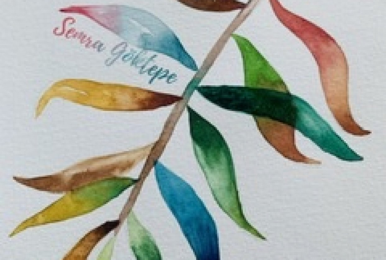 Watercolor leaves - student project