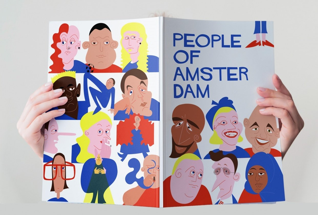 People of Amsterdam - 2nd round drafts and mockup - student project