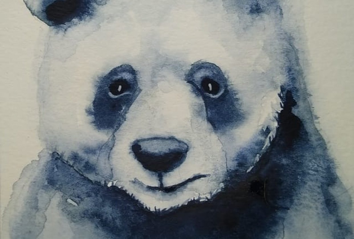 Loose style panda bear - student project