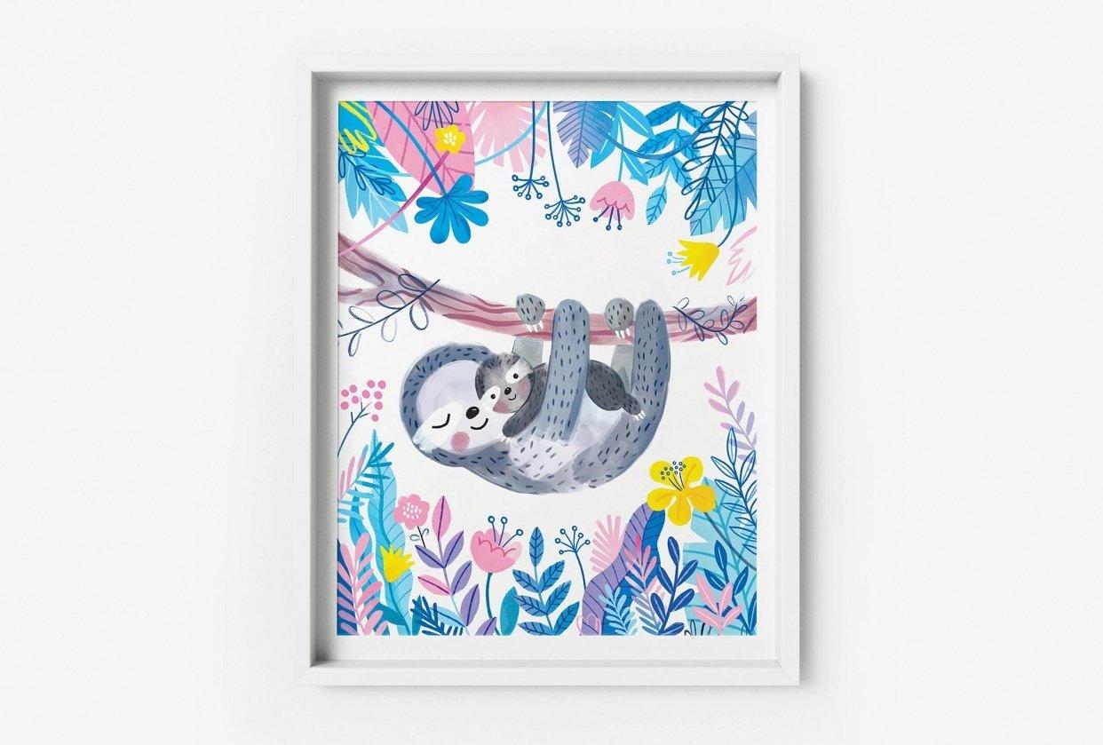 Sloth Nursery Wall Art - student project